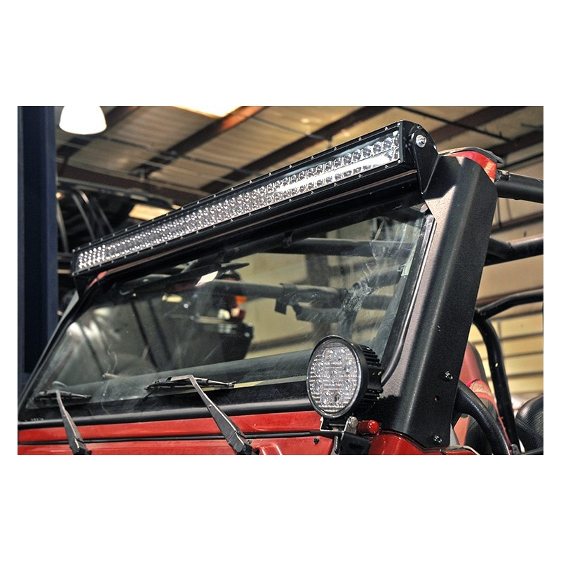Rc70503 rough country upper windshield led light bar mounts 127 cm mocowanie listwy led do dachu rough country jeep wrangler tj aloadofball Gallery