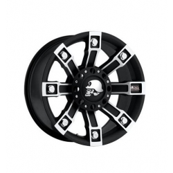 "Felga aluminiowa 9x18"" 5x127 ET 0 - ProComp Model 7113 Metal Mulisha Flat Black - Jeep Grand Cherokee WJ"
