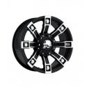 "Alloy wheel 9x18"" 5x127 ET 0 - ProComp Model 7113 Metal Mulisha Flat Black - Jeep Grand Cherokee WJ"