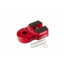 Flat Link with Titanium Pin & Rubber Guard (Red)
