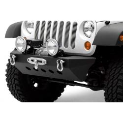 Zderzak przedni stalowy z p³yt± pod wyci±garkê SMITTYBILT Classic Rock Crawler  - Jeep Wrangler JK