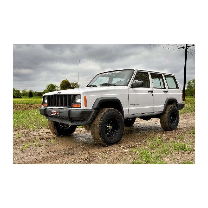 "3"" Rough Country Lift Kit Pro II Suspension - Jeep Cherokee XJ"